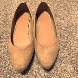 Old Navy suede tan flats, size 7